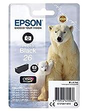 Epson 26 Serie Orso Polare Cartuccia Originale, Standard, Nero Foto, con Amazon Dash Replenishment Ready