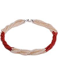 54bb430edb4a jyx five-strand 5 – 6 mm auténtica perla de agua dulce y collar de