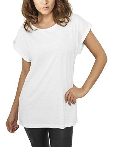 Urban Classics Damen T-Shirt Ladies Extended Shoulder Tee, Gr. 38 (Herstellergröße: M), Weiß (white 220)