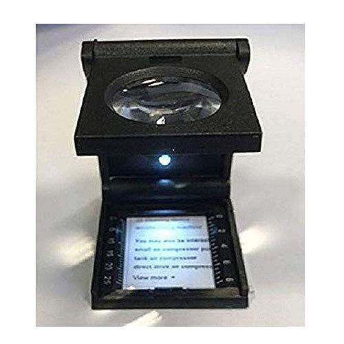 Fadenzählerlupe 25mm, 1 Zoll mit 5 facher Vergrößerung Lupe