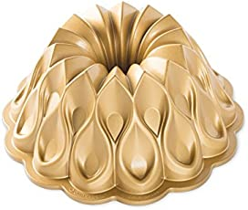 NordicWare - Backform, Kuchenform - Jubiläums-Krone, Krone - Aluguss - Gold