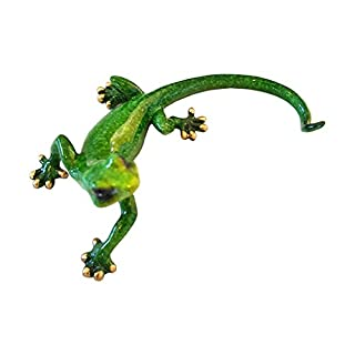 Aljec Speckled Gecko, Metal, Green, 16.5 x 10 x 7 cm