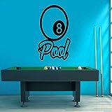 CDNY Billard Pool Wandtattoo Vinyl Aufkleber Snooker Sport Spiel Home Decor Interior Design Wandbild Selbstklebende Tapete 57x74cm