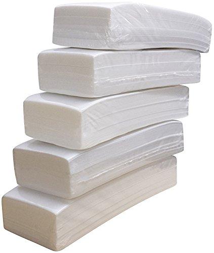 Crisnails® Bandas de Papel para Depilación con Cera, 5 Paquetes (500 Unidades)