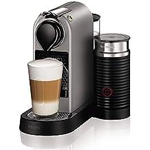 Nespresso Krups Citiz XN760B - Cafetera monodosis de cápsulas Nespresso con aeroccino, compacta, 19 bares, apagado automático, color titán (Reacondicionado)