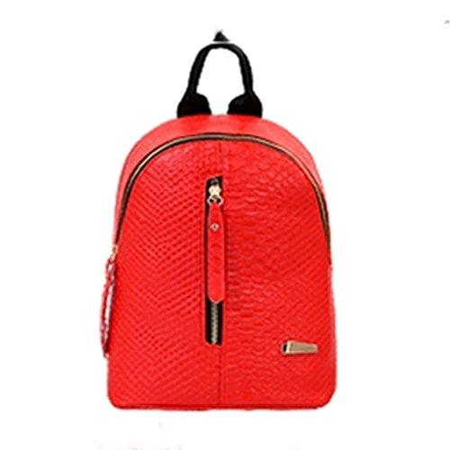 Spalle elegante confezione colore puro stile minimalista mini-borse tracolla zaino studenti,a spalle,A rosso rosso