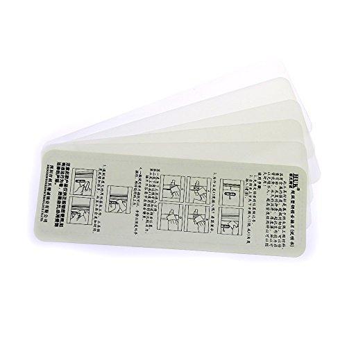 loboo - Juego de 5 nano tarjetas de apertura de plástico y acero inoxidable HUK, herramientas para cerrajeros, cerrajería