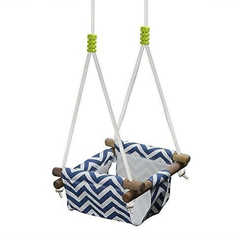 Pellor Balançoire siège en toile panier à l`intérieur pour bébé 0-3ans (bleu)