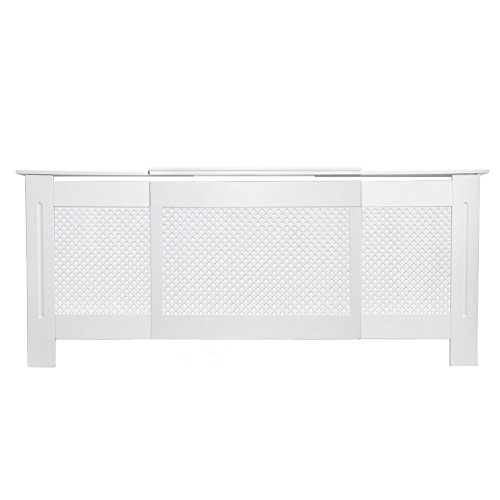 Happyjoy-Painted-Radiator-Covers-Cabinet-Adjustable-Modern-Style-Diamond-Grill-Design-In-White-MDF-Adjustable-Cabinets-1300mm-up-to-1950m