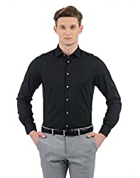 Indian Terrain Mens Striped Regular Fit Casual Shirt (ITA17SHK236_Black_S)
