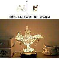 Aladdin - Lámpara de mesa de luz nocturna (estéreo, ...