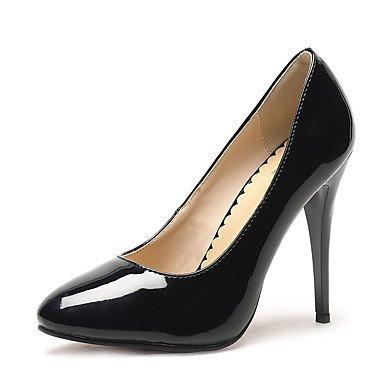 Moda Donna Sandali Sexy donna tacchi Primavera / Autunno T-cinturino in pelle di brevetto Wedding / Party & sera abito / Stiletto Heel altri nero / rosso / Black