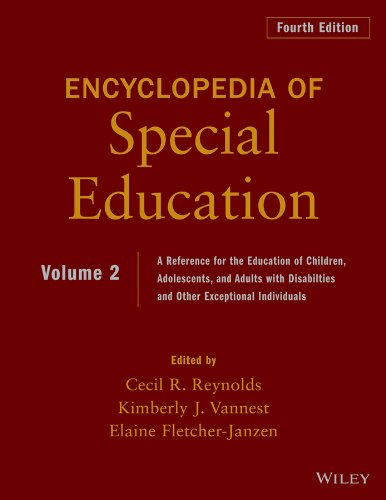 Encyclopedia of Special Education, Volume 2: A Reference for the Education of Children, Adolescents, and Adults Disabilities and Other Exceptional Individuals