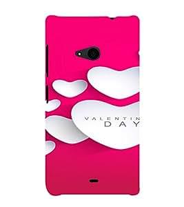 PrintVisa Love Hearts Valentines Gift 3D Hard Polycarbonate Designer Back Case Cover for Nokia Lumia 535
