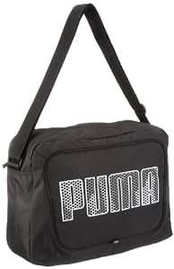 PUMA Umhängetasche Deck Shoulder, black-white, 40.5 x 30 x 12 cm, 13 liters, 070331 01, 0.00 euro/100 ml
