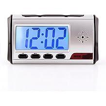 SMARTEX - Despertador con cámara espía, oculta y con sensor moviemento, Mini cámara espía oculta Video Audio