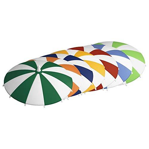 homeXpert 3065170706 Glasabdeckung Trinkglas-Deckel Schirmchen, Ø 11,5 cm (Farbe zufällig, 10 Stück) Farbe Deckel