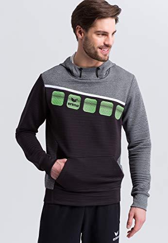 ERIMA Herren 5-C Kapuzensweat mit integrierter Kängurutasche und Cotton Touch