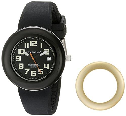Momentum Alter Ego 1M-SP99BY1B - Reloj analógico de cuarzo para mujer, correa de silicona color negro