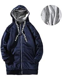 CHENGYANG Uomo Inverno Cappotto con Cappuccio Zip Felpe Caldo Giacca  Outwear Parka Pullover 6dc79361b82