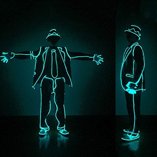 WSXX MJ Jazz Fluorescent Dance EL Kaltlicht Beleuchtung Kleidung LED Bühne Leistung Illuminierende Requisiten Fertige Produkte (mit Kleidung)
