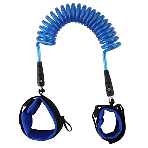 HuhuswwBin Baby Coded Lock Sicherheits-Antiverlust Elastisches Band Band Handgelenk Taille Band Gürtel, blau, 1,5 m -