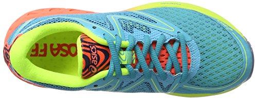 Asics Noosa Ff, Scarpe Running Donna Multicolore (Aquarium/flash Coral/safety Yellow)