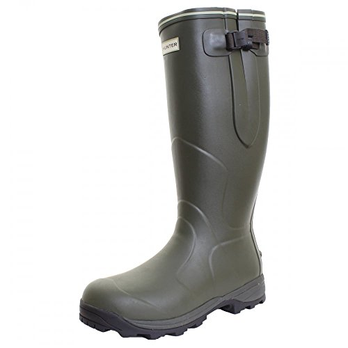 Hunter Unisex Balmoral 3mm Neoprene-Lined Wellington Boot, Dark Olive UK10
