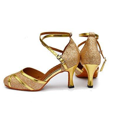 Chaussures De Danse-personnalisable-womens-latin-american Danse-custom-heel-synthétique Cuir-synthétique Argent-noir Argent Or Argent