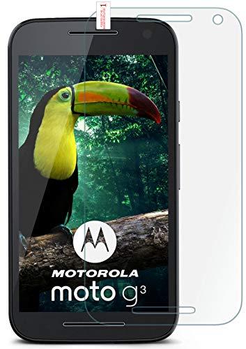 moex 9H Panzerfolie für Motorola Moto G3 | Panzerglas Display Glasfolie [Tempered Glass] Screen Protector Glas Displayschutz-Folie für Motorola Moto G 3. Generation Schutzfolie