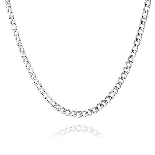 STERLL Herren Hals-Kette echt Silber 60cm ohne Anhänger Geschenkverpackung, originales Geschenk für Mann