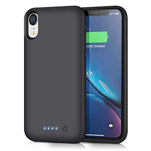iposible Akku Hülle für iPhone XR, [6800mAh] Tragbare Ladebatterie Zusatzakku Externe Handyhülle Batterie Schutzhülle Wiederaufladbare Akku Case für iPhone XR [6,1 Zoll] Battery Pack Powerbank Macbook Dual Layer