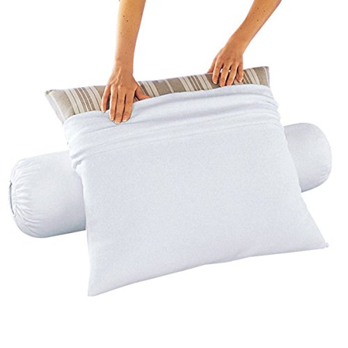 la-redoute-interieurs-flannelette-pillow-or-bolster-protector-anti-dust-mite-white-size-90