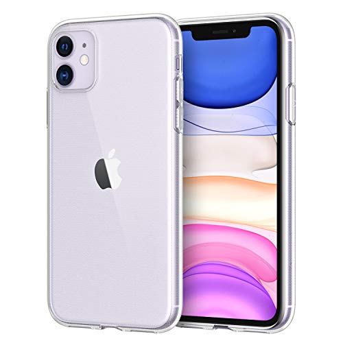 SPARIN [Lot de 2 Coque Compatible avec iPhone 11 2019, Etui en Souple TPU Silicone pour iPhone 11, Silicone Flexible - Contre Les Rayures- Antichoc-Protection Parfait pour l'iPhone 11, 6.1 Pouces