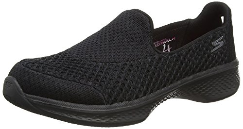 Skechers Girls Go Walk 4-Kindle Low-Top Sneakers, Black (Bbk), 3 UK 36...