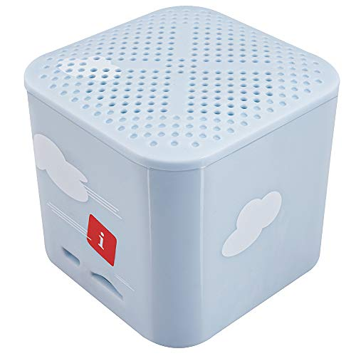 iBall Musi Kids Wireless Mini Bluetooth Speakers with FM | Micro SD Card Slot & Built in Mic (Sky Blue)