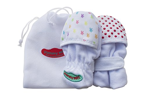 Yummy Mitt Anti-Scratch Teething Mittens (0-3 months) Unisex – 1 pair 41ZRW2ArJNL