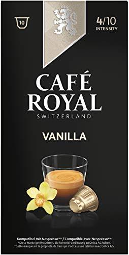 Café Royal Flavoured Edition Vanilla 50 cápsulas compatibles con Nespresso* Intensidad: 4 de 10 (Pack de 5 x 10 cápsulas)