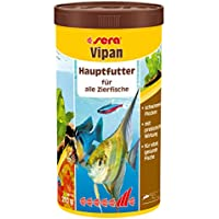sera 00170 vipan 1000ml - der Klassiker - Hauptfutter für alle Zierfische in Gesellschaftsaquarien, Flockenfutter, für schönere und größere Fische