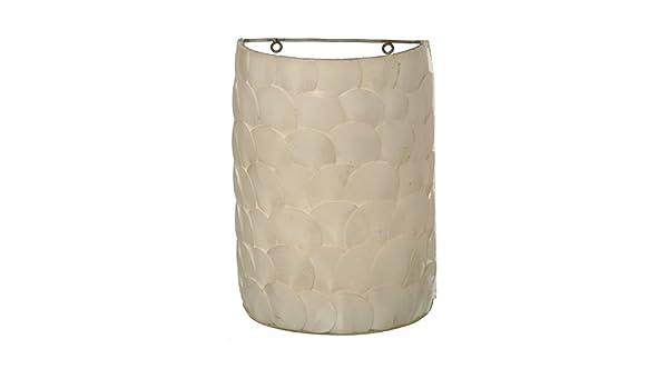 Donregaloweb lampada applique da parete con conchiglie di fibra