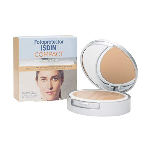 fotoprotector Isdin Compact Maquillage Sable SPF 50 + Cuir atopica et sensible