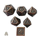 Tuerca poliédrica Para Dungeons & Dragons 7pcs / set Dados de RPG innovadores D y D Metal Dice Set