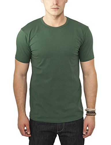 Urban Classics TB814 Herren T-Shirt Fitted Stretch Tee, Gr. Large, Grün (forest 615)