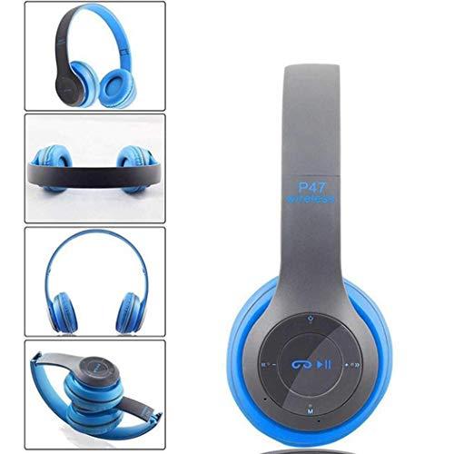 Vobome cuffie bluetooth over ear, cuffie stereo bluetooth con cancellazione del rumore bluetooth 4.1, pieghevole per pc cellulari tv cuffie con cavo