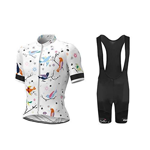 Uglyfrog Herren Radtrikot Set, Atmungsaktiv Quick-Dry Kurzarm Radsport-Shirt + Gel Gepolsterte Shorts