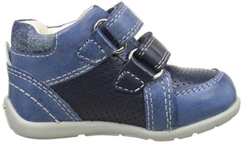 Geox  B KAYTAN B, chaussures premiers pas bébé Bleu (Navy/Lt Bluec0693)