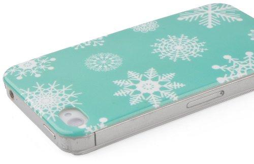 JAMMYLIZARD | Winter-Muster Back Cover Hülle für iPhone 5 und 5S, RENTIER SCHNEEFLÖCKCHEN
