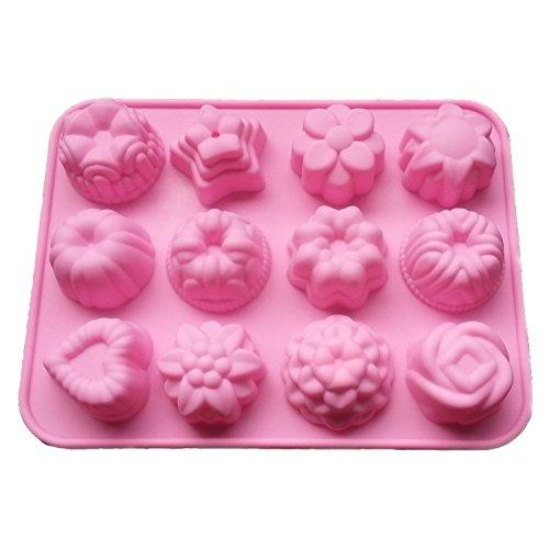 Demarkt Silikonformen 3D Silikon Form DIY Silikonform Blume Kuchen Seife Eiswürfel 3D Mould