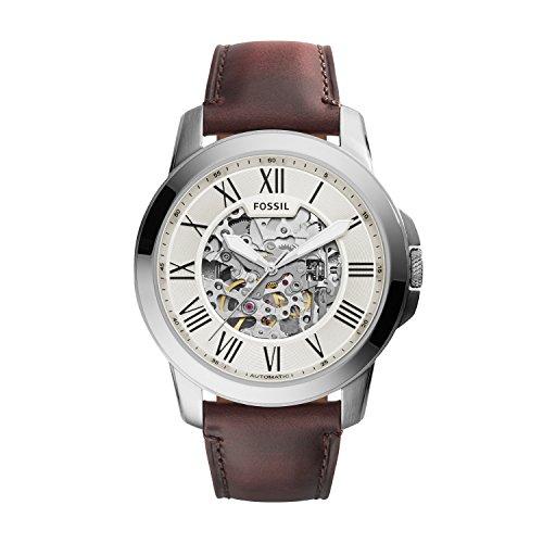 Fossil Herren Analog Mechanik Uhr mit Leder Armband ME3099 - Leder Uhren Citizen-herren Band
