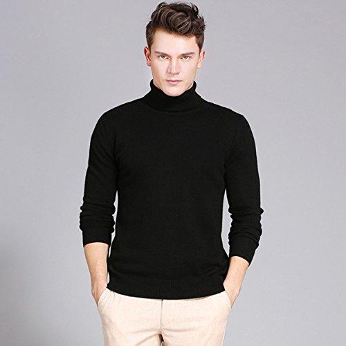 Langmotai maglione Inverno Uomini di Spessore Turtleneck Caldo Maglione di  Colore Solido Maglione Uomini Slim Sleeve a5ca65ceacd